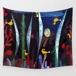 Paul Klee Landscape with Yellow Birds Wall Tapestry