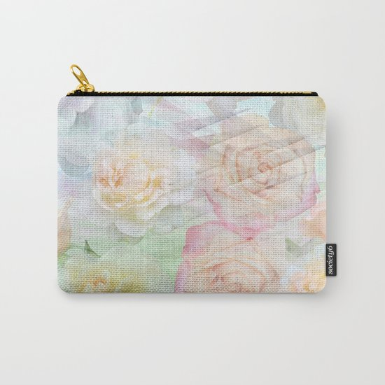 Romantic roses in pastels Carry-All Pouch
