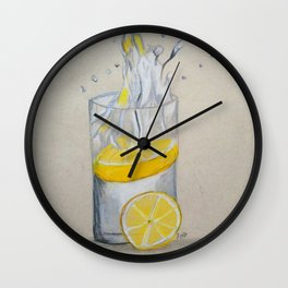 Lemon in water Wall Clock