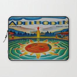 Vintage Adelboden Switzerland Travel Laptop Sleeve