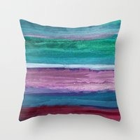 the strokes Throw Pillows featuring Different Strokes by Steven Womack