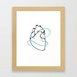 BlueHeart - Depression Framed Art Print