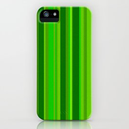 Green Stripes iPhone Case