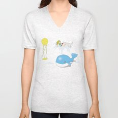 Whale of a time Unisex V-Neck
