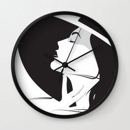 Vintage woman Wall Clock