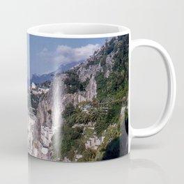 Amalfi Drive Coastal View, Vintage 1940's color photo, Italy Coffee Mug