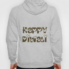 Happy Diwali Festival of Lights Typography Hoody