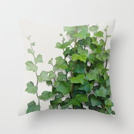 By the wall Throw Pillow