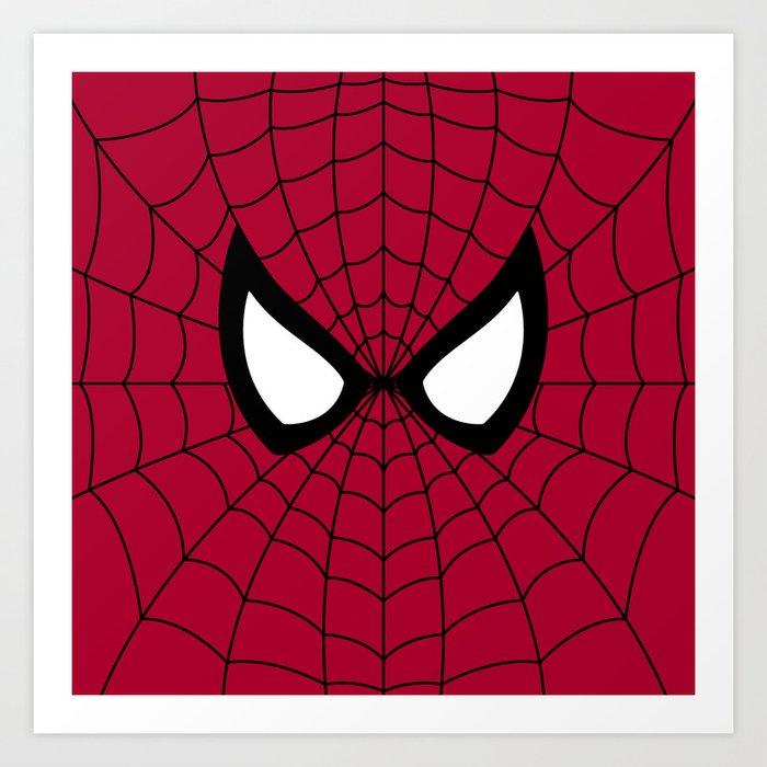 Spider man superhero Art Print