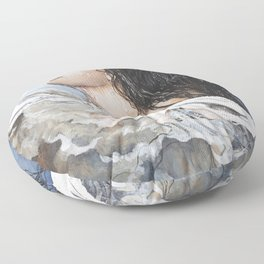 Head Above Water Floor Pillow