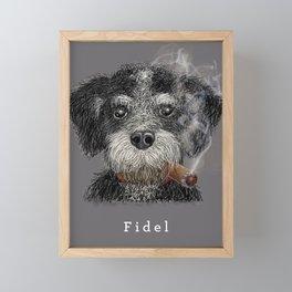 Fidel - The Havanese is the national dog of Cuba Framed Mini Art Print