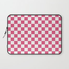 Small Checkered - White and Dark Pink Laptop Sleeve