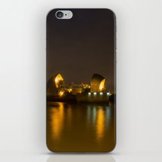 Thames Barrier Night Time iPhone Skin