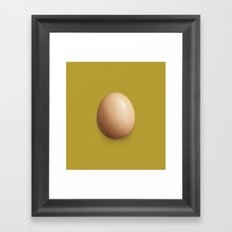 Egg #1 (Hemp) Framed Art Print
