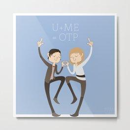 U + ME = OTP (of the TARDIS) Metal Print