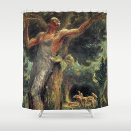African American Masterpiece 'Freedom' by John Steuart Curry Shower Curtain