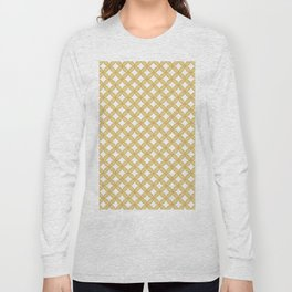 Modern gold yellow white geometric quatrefoil pattern Long Sleeve T-shirt