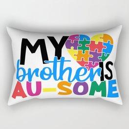 My Brother Is AuSome Autism Awareness Rectangular Pillow