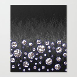 Asteroid Belt of Silver Moons Canvas Print
