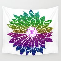 sunflower Wall Tapestries featuring SunFlower by haroulita