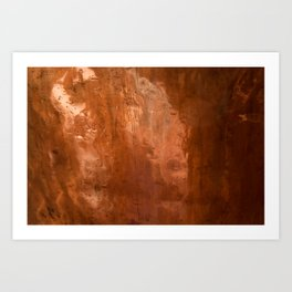 copper Art Print