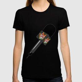 The Original Sez Me microphone T-shirt