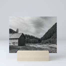 Mountain Cottage Mini Art Print