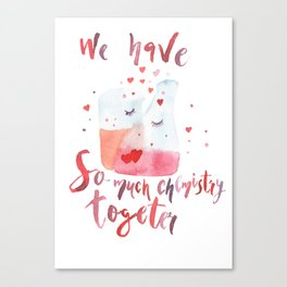Valentines day art Chemistry Canvas Print
