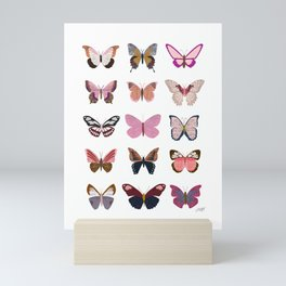 Pink Butterflies Mini Art Print