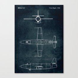 BELL X-1 - First flight 1946 Canvas Print