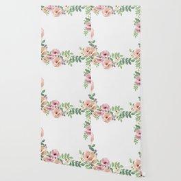 Pink Floral Watercolor Design Wallpaper