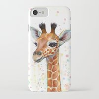 baby iPhone & iPod Cases featuring Giraffe Baby by Olechka