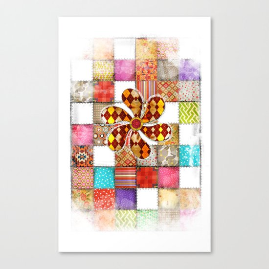 Lady Patchwork (Bulgarian Love) Canvas Print