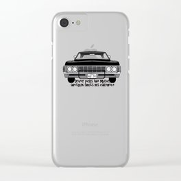 Driver Picks The Music Shotgun Shuts His Cake-Hole Clear iPhone Case