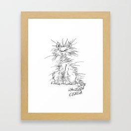 Disgruntled Cat Framed Art Print