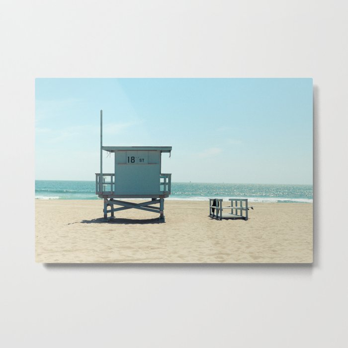 Manhattan Beach Lifeguard Tower Metal Print