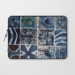 Quilt of a Sort in Blue Laptop Sleeve
