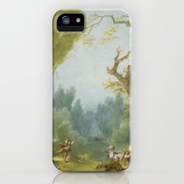 A Game of Horse and Rider by Jean-Honoré Fragonard iPhone Case