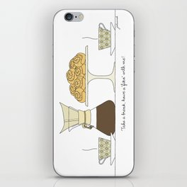 have a fika with me iPhone Skin