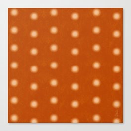 """Polka Dots Degraded & Orange Cream"" Canvas Print"
