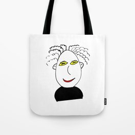 Man with frizzy hair Tote Bag