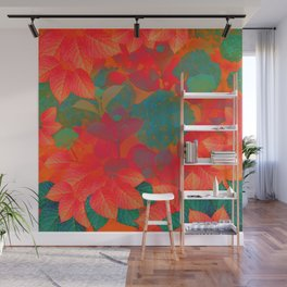 """Intense Pastel Hydrangeas-Passion"" Wall Mural"