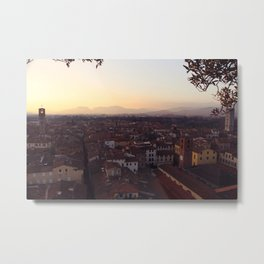 Lucca Sunsets Metal Print