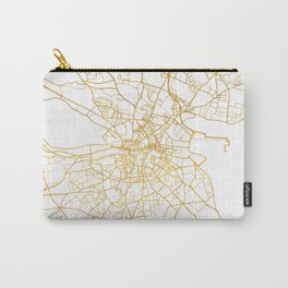 DUBLIN IRELAND CITY STREET MAP ART Carry-All Pouch