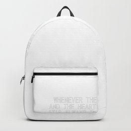 Brain and Heart fights Liver Always Suffer Backpack