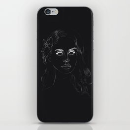 Negative Lana iPhone Skin