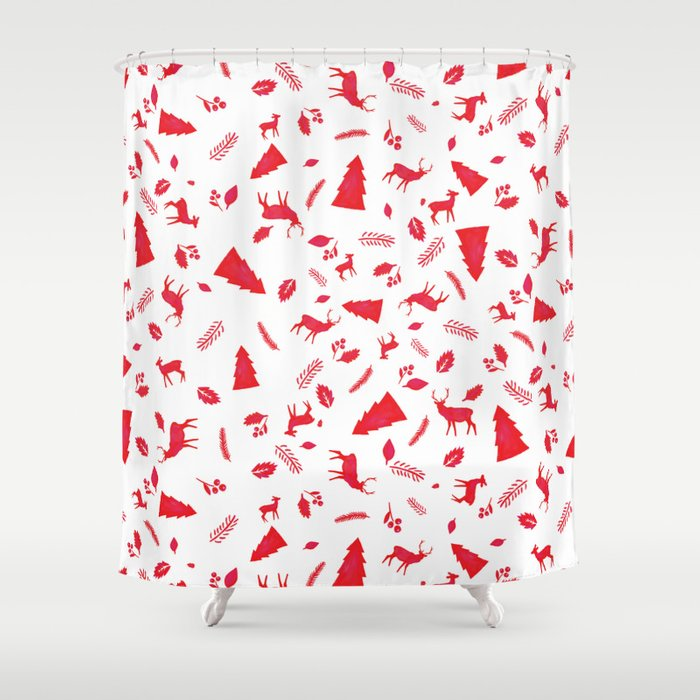 Scandinavian Christmas Pattern Shower Curtain