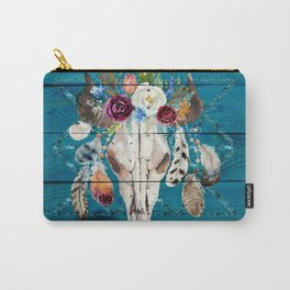 Rustic Glam Boho Chic in Teal Carry-All Pouch