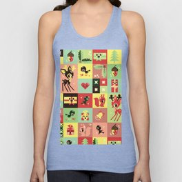 Christmas Geometric Pattern No. 2. Unisex Tank Top