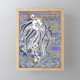 Hawaiian incandesent tribal threads Framed Mini Art Print